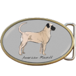 American Mastiff Dog Belt Buckle. Code A0042